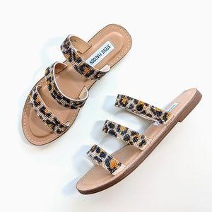 NEW Steve Madden Malise Leopard Crystal Sandals